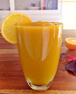 Smoothie de calabaza y mandarina