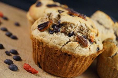 Muffins De Chocolate Y Bayas De Goji