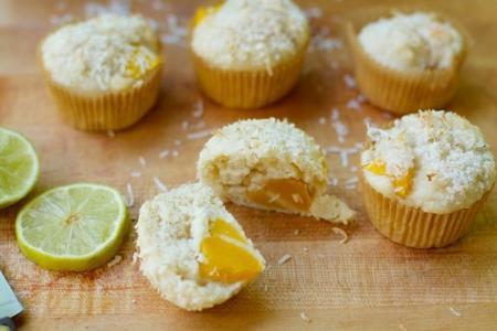 Muffins de lima y mango