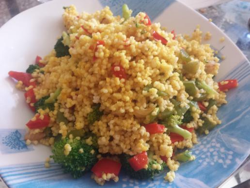 Mijo con verduras
