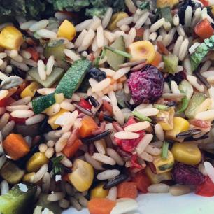 Ensalada de tres arroces y verduras
