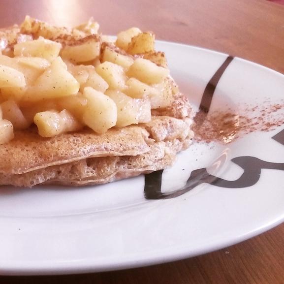 Tortitas de espelta y manzana