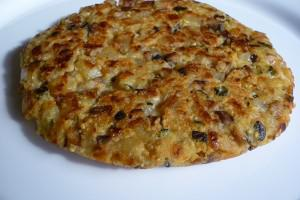 Tortilla de verduritas sin huevo