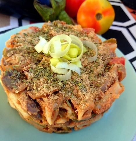 Macarrones con queso vegano