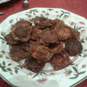 Chips de calabacín achorizados