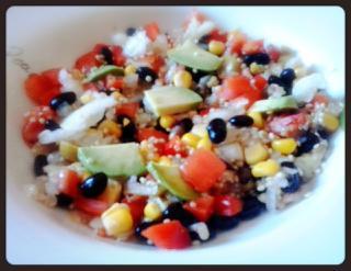 Ensalada de judías negras y quinoa