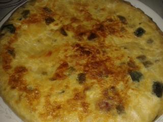 Tortilla de patata y verdura
