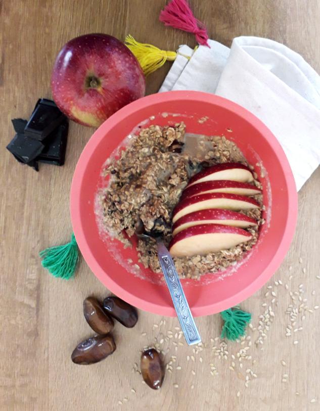 Porrigde de avena y fruta