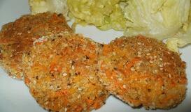 Buñuelos de zanahoria avena y semillas