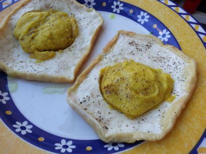 Huevos fritos veganos