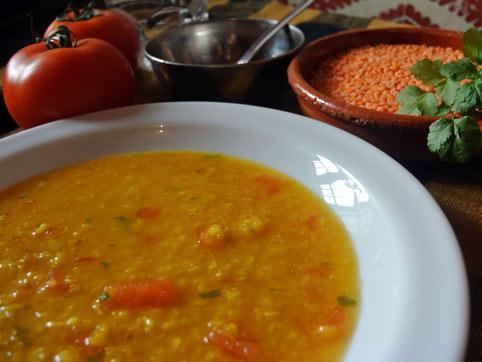 Masoor Dal - Sopa india de lentejas rojas