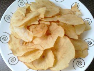 Chips de manzana con canela