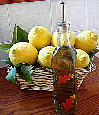 Aceite de limón casero