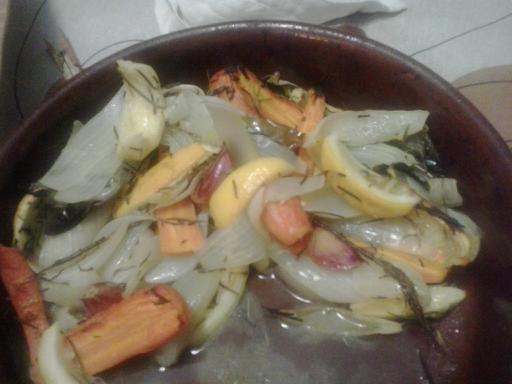 verduras asadas con limón y romero