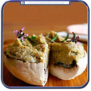 Paté de garbanzo, ajo y frutos secos