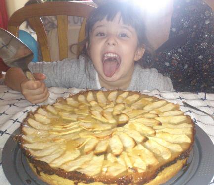 Tarta de manzana vegana de Estela.