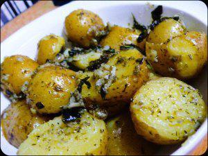 Patatas a las hierbas provenzales (10 minutos)