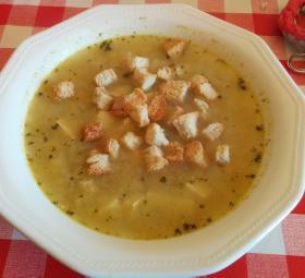 Sopa de cebolla con tofu