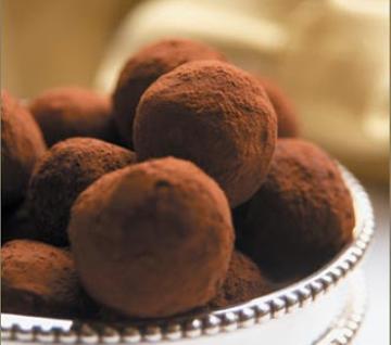Trufas veganas de chocolate