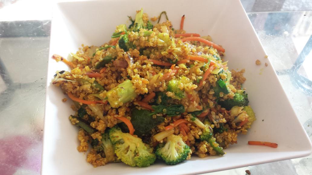 Quinoa con sesamo y verduras