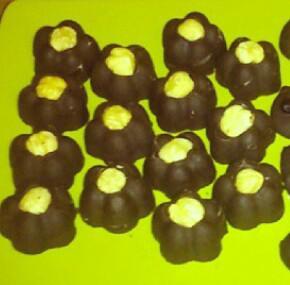 Bombones de chocolate con leche veganos
