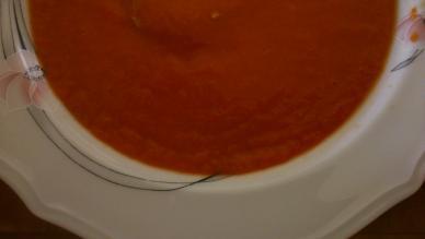 crema de pimientos y tomates asados