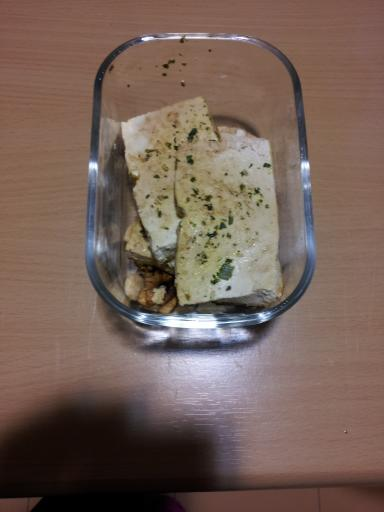 Tofu a la plancha con salsa de soj y cebollino