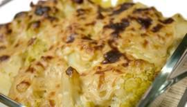 Patata y coliflor con bechamel vegana
