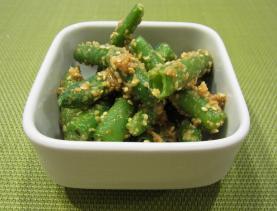 Ingen no goma-ae (judías verdes con salsa de sésamo)