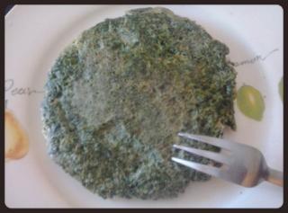 Tortilla francesa de espinacas (vegana)