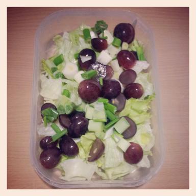 ensalada de uvas