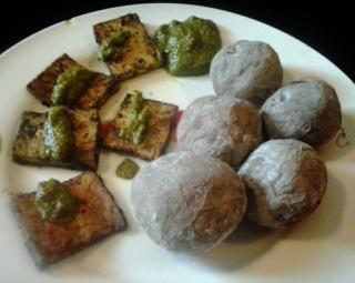 Tofu al mojo verde