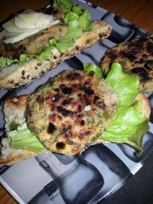 Mini hamburguesas de champiñones