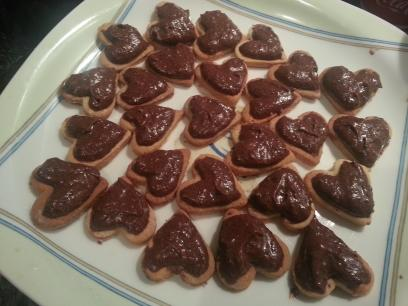 Galletas con crema de chocolate