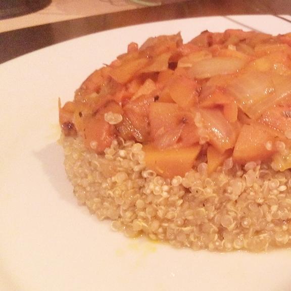 Timbal de quinoa y calabaza