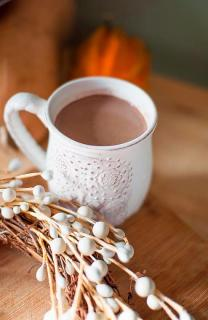 Chocolate caliente con calabaza