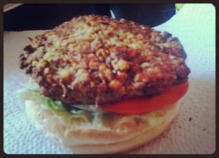 Hamburguesa lenteja-quinoa-habas de soja