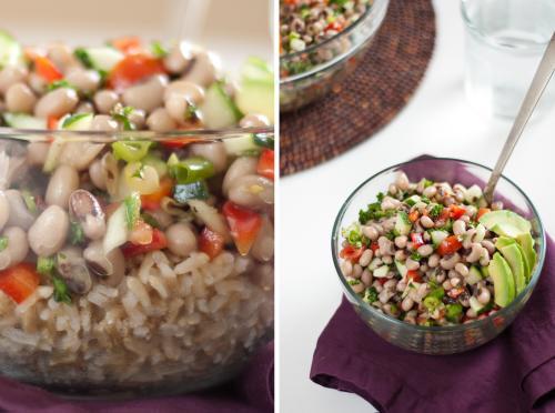 Ensalada de alubias negras y arroz