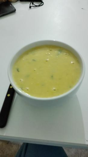 sopa crema de Maíz (choclo)