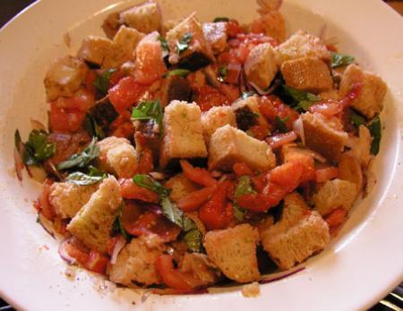 Panzanella (ensalada con pan)