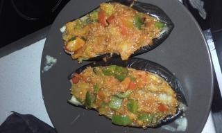Berenjenas rellenas con quinoa