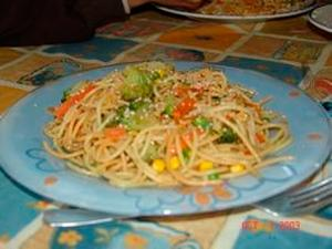 Espaguetis a la oriental