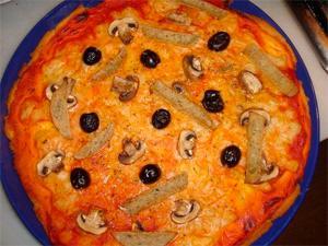 Pizza vegana de tofu apta para celíacos
