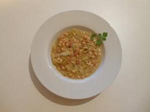 Potaje de soja verde y arroz