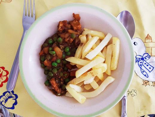 Tempeh en salsa con patatas super rápido