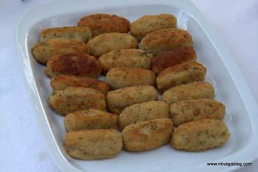 Croquetas de tofu y espinacas