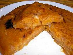 Tortilla vegana de calabaza y nueces