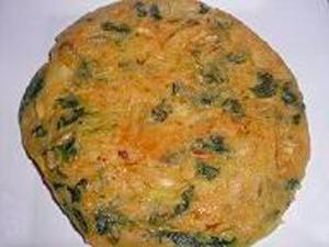 Tortilla vegana de espinacas