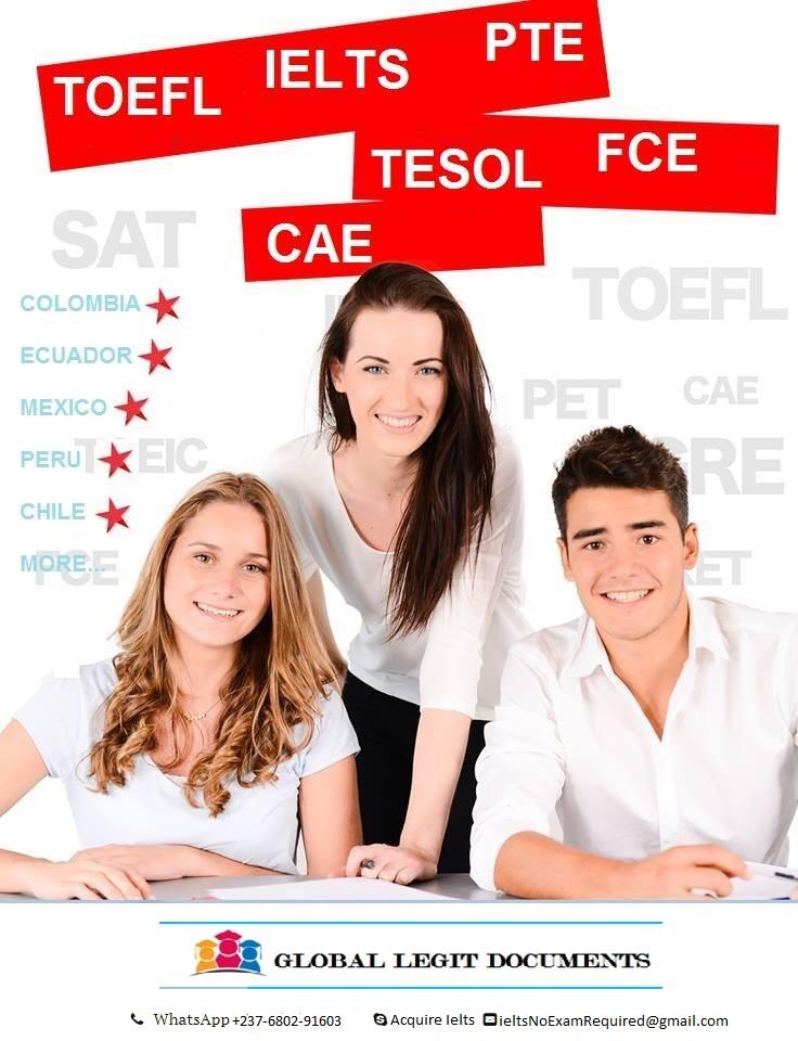 (buyieltscertificates@yahoo.com) Compre certificados IELTS,STAMP,TOEFL,CELU,OPI,ECL,sin examen en s